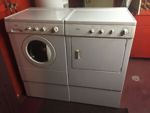 """Kenmore 27"""" white frontload stackable washer electric dryer"""