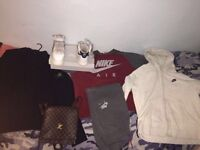 Nike Air tracksuit,Nike Air Force 1 Size 11 ,Nike hoody,Louis vuitton bag & Stone island cardigan