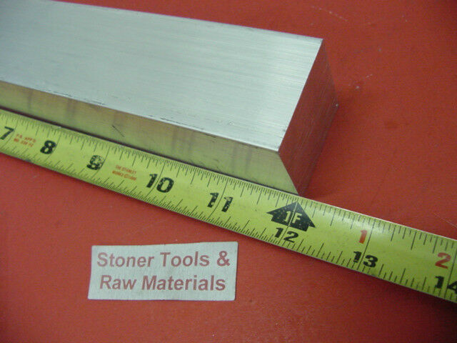 """1-1/4""""x 1-1/4"""" SQUARE ALUMINUM 6061 SOLID BAR 12"""" long T6511 Extruded Mill Stock"""
