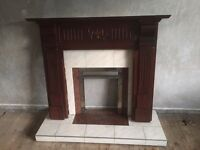 Brown Fireplace Surround for Sale - Good Condition