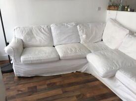 Corner IKEA sofa white