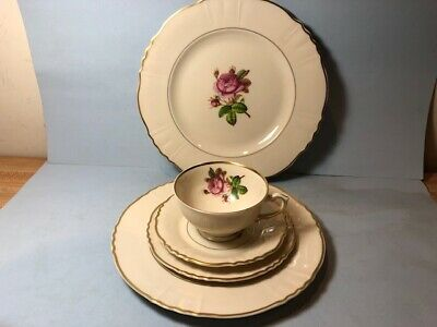 Syracuse Rosalie Five Piece Place Setting(s) (Luncheon Plate, Dinner Plate-10