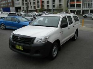 2013 Toyota Hilux TGN16R MY12 Workmate White 4 Speed Automatic
