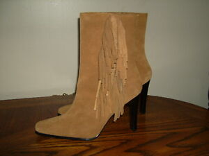 WOMEN'S SUEDE FRINGED BOOTS SIZE 7 1/2 NEW