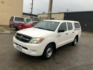 2007 Toyota Hilux GGN15R MY07 SR 4x2 White 5 Speed Automatic Utility
