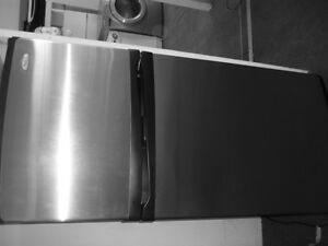 33 inch wide, STAINLESS FRIDGE