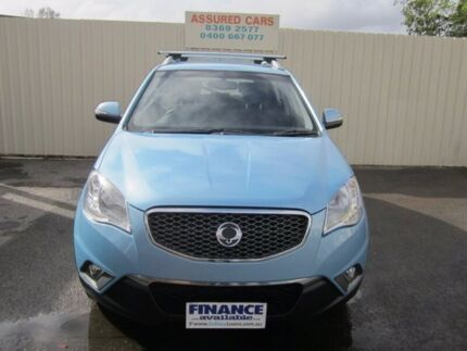 2011 Ssangyong Korando C200 SX Blue 6 Speed Automatic Wagon Windsor Gardens Port Adelaide Area Preview