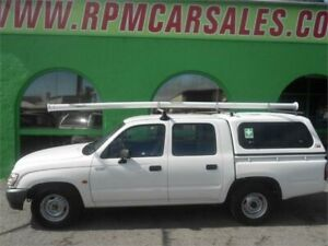 2002 Toyota Hilux RZN149R White 4 Speed Automatic Dual Cab Pick-up