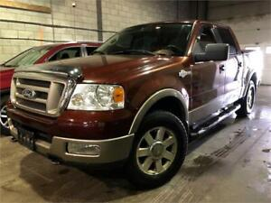 2005 FORD F150 KING-RANCH SUPERCREW 4X4 129,000KM CUIR/TOIT/MAGS