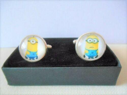 Silvertone Minions Cufflinks