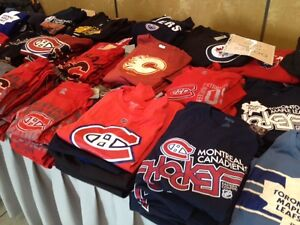 Wholesale Liquidation 100 New Assorted NHL T Shirts $9.99 ea