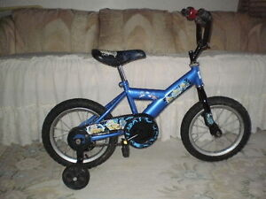 """14"""" SUPER CYCLE BIKE COMPLETE WITH TRAINING WHEELS AND BELL"""