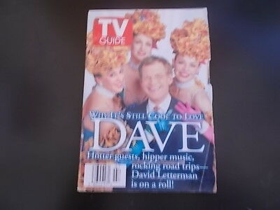 David Letterman  The Monkees  Tyra Banks   Tv Guide Magazine 1997