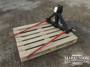 """HLA 3pt. Hitch Bale Spear - Category 1, 49"""" tines, 2"""" receiver"""