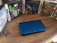Nintendo 3ds XL, Metalic Blue , 20+ games.