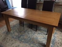 Oak Dining Room Table 6 X 3 ft - Seats 6-8 - Used. Good Condition.