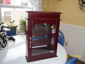 Wall Mount Display Cabinet with Glass Front Door (Bombay)