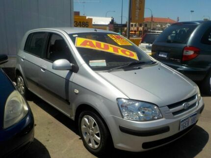 2004 Hyundai Getz TB GL Silver 4 Speed Automatic Hatchback Victoria Park Victoria Park Area Preview