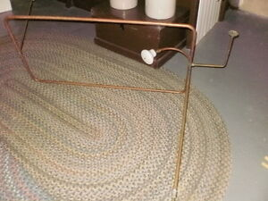 antique shower curtain rod with shower head