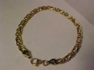 "#1339-18K DOUBLE CABLE LINK BRACELET -HALLMARKED .750 -7 1/4 "" LONG-6.62 GRAMS-LOBSTER CLAW CLOSURE-FREE SHIPPING-INTERA"