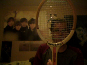 Wooden Tennis Raquet (With Protective Sleeve)