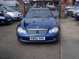 Mercedes-Benz C CLASS 2.1 C220 CDI SE 2dr, 2003 model, Full MOT, Service History, Automatic