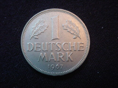 German Federal Republic 1967G One Mark Coin, KM110, From Proof Set
