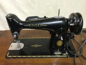 Vintage Singer 201k Sewing Machine with Table in Great Condition