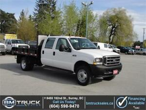 2004 FORD F-550 SUPER DUTY XL CREW CAB FLATDECK DUALLY *LOW KM*