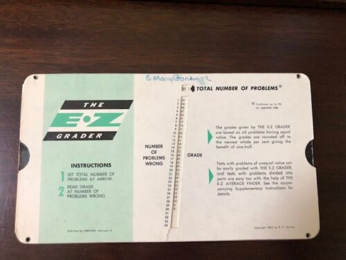 Vintage EZ Grader Copyright 1962