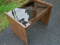 Smoked Glass Top Side Table