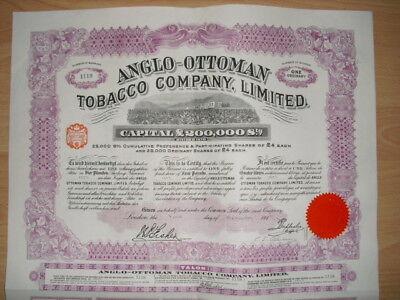 Anglo Ottoman Tobacco Company   1913