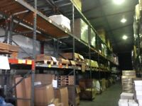 PALLET RACKING 6.5m FRAMES £35 2.7m BEAMS £6.50 CHEAPEST IN UK WHILST STOCKS LAST