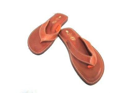 Auth Felisi Brown Leather Sandals Men