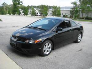 2008 Honda Civic Coupe Black (2 door)