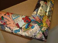 COMIC ART  FRAMES SUPER HERO ORIGINALS   GREAT GIFT COMIC FANS
