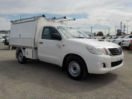 2012 Toyota Hilux White Manual Cab Chassis