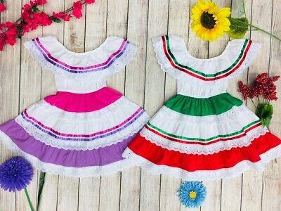 Unik Traditional Mexican Dress for Girls Size 2-14 Cinco de Mayo Fiesta