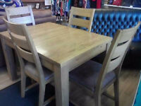 Country Oak Extending Table 6 Chairs Extracare Charity Shop Dronfield