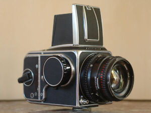Hasselblad 500c/m with 80mm and 120mm lens Metz flash