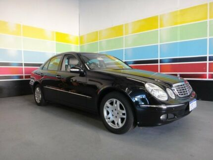 2006 Mercedes-Benz E280 211 MY06 Upgrade Elegance Black 7 Speed Automatic G-Tronic Sedan Wangara Wanneroo Area Preview