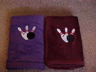 Bowling Towel - Embroidered, PERSONALIZED FREE/3 pin design ()