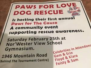Paws For Love's first annual Paws For The Cause event