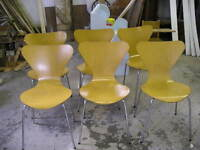 MID CENTURY MODERN MOLDED BENTWOOD PLYWOOD CHAIRS