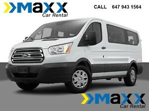 8, 10, 12 and 15 Passengers Transit van rental GTA 647 943 1564