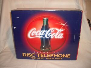 Coca Cola Lightup/Musical Telephone  *New in Box*