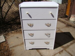 4 all wood dresser Arctic white (just reduced to $60)