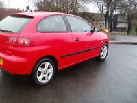 2004 Red Seat Ibiza SX 1.2 Hatchback**NEW MOT**