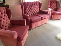 FREE Immaculate 3 piece suite Two seater sofa and two armchairs Can be seen at PHILLEIGH Saturday