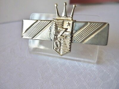 "Vintage Silvertone Crown ""Z"" Tie Clasp on Rummage"